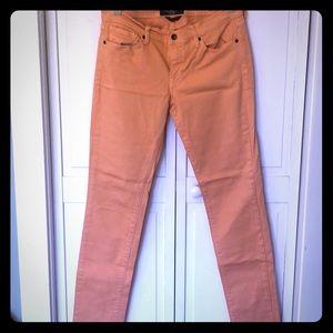 Lucky Brand Charlie Skinny Jeans- Orange